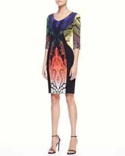 Womens Paisley Panel Dress, Multi/Black   Etro   Black (40/6)