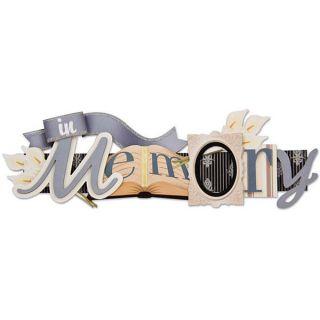 Stacked Statement In Loving Memory 3D Title Sticker