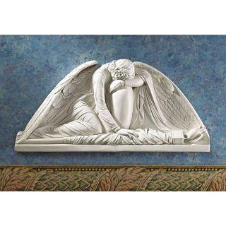 Design Toscano Weeping Angel Wall Pediment   Outdoor Wall Art
