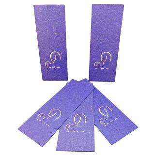 Elephant Dung Paper Dark Blue Bookmark (Set of 5) (Sri Lanka)