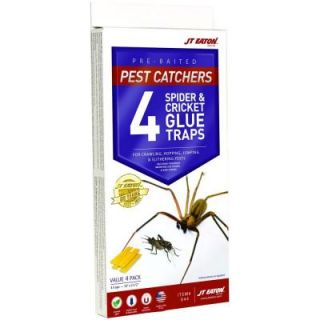 JT Eaton Pest Catchers Large Spider and Cricket Size Attractant Scented Glue Trap (4 Pack) 844