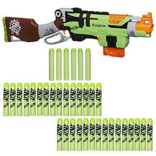 Nerf NER ZOMBIE STRIKE SLINGFIRE & Nerf Zombie Strike Dart Refill Pack