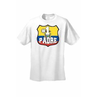 Mens T Shirt # 1 Padre Ecuador Flag Pride Futbol Soccer Football Gym