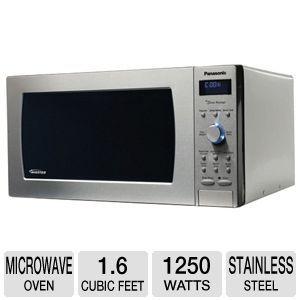 Panasonic Nn Sd797s Microwave Oven 1 6 Cubic Feet 1250w Genius Prestige Inverter Technology