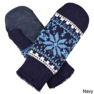 Isotoner Womens Knit Snowflake Pattern Mittens   Shopping