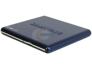 SAMSUNG Model SE S084D/TSLS Blue Slim External DVD Writer (Blue)