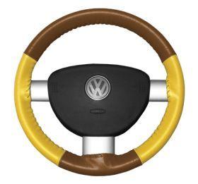 2004 2009 Toyota Prius Leather Steering Wheel Covers   Wheelskins Tan/Yellow 13 3/4 X 3 3/4   Wheelskins EuroTone Leather Steering Wheel Covers