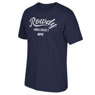 Reebok Ronda Rousey UFC 193 Blue Rowdy Established T Shirt