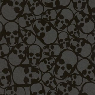 Graham & Brown Barbara Hulanicki Flock Skulls Flocked Wallpaper
