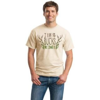I Like Big Bucks & I Cannot Lie  Funny Deer Hunter, Hunting Unisex T shirt Tee Beige Medium