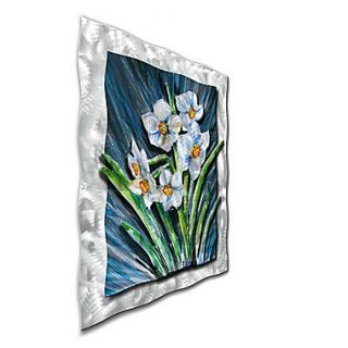 All My Walls Daffodils by Ash Carl Original Painting on Metal Plaque
