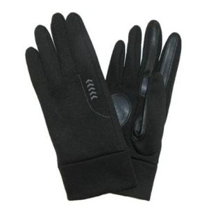 totes ISOTONER  Womens Unlined SmarTouch Texting Stretch Glove, Black and Grey