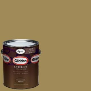 Glidden Premium 1 gal. #HDGY65D Vintage Olive Satin Latex Exterior Paint HDGY65DPX 01SA