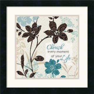 Lisa Audit Botanical Touch Quote I 18 x 18 inch Framed Art Print