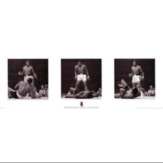 Muhammad Ali   1965 1st Round Knockout Against Sonny Liston   Triptych Poster Print (36 x 12)