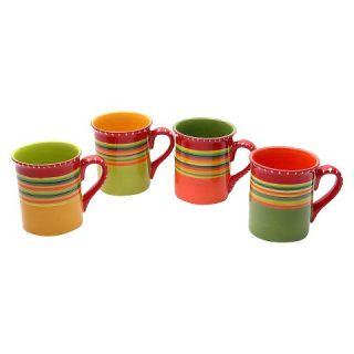 Certified International Hot Tamale Mug Set of 4 (18 oz.)