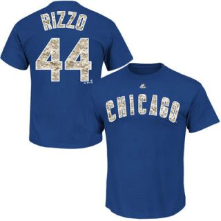 Anthony Rizzo Chicago Cubs Majestic Digi Camo Player T Shirt   Royal
