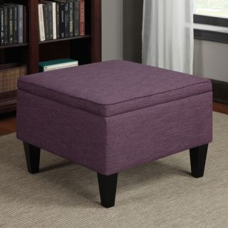 Portfolio Engle Amethyst Purple Linen Table Storage Ottoman   15257175
