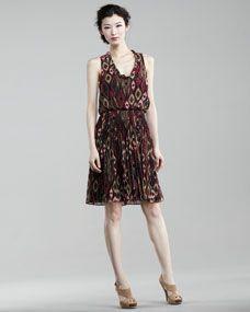Ali Ro Ikat Print Blouson Dress