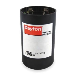 DAYTON Round Motor Start Capacitor,161 193 Microfarad Rating,110 125VAC Voltage   Capacitors   2MDR4|2MDR4