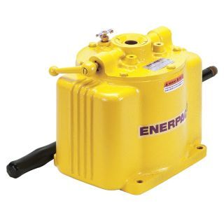 """ENERPAC 9 7/16"""" x 6 13/16"""" x 7 7/8"""" 1 Stage Hydraulic Hand Pump   Hydraulic Hand and Foot Pumps   46C560