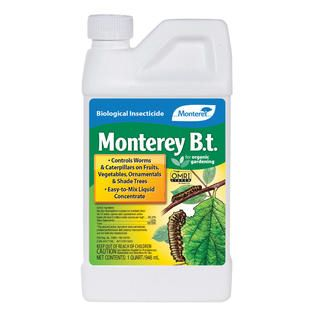 Monterey B.t. Biological Insecticide, 32 oz Concentrate, OMRI   Lawn