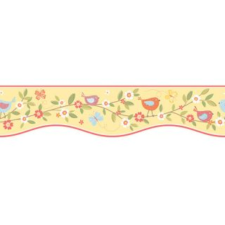 You Are My Sunshine 15 x 6.875 Bird House Floral Border Wallpaper by