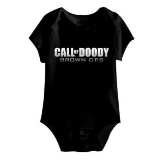 Call of Doody Brown Ops Baby Bodysuit   Shopping   Big