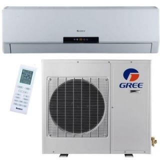 GREE Premium Efficiency 18,000 BTU 1.5 Ton Ductless Mini Split Air Conditioner with Heat, Inverter and Remote   208 230V/60Hz NEO18HP230V1A
