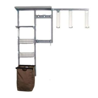 Triton Products Storability Modular Wall Storage System with Shed Wall Storage Center with Long Handle Tool Keepers, Silver/Grey 1660
