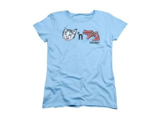 Puss N Boots Rebus Logo Womens Short Sleeve Shirt