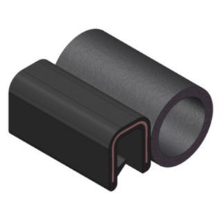 TRIM LOK INC Trim Seal,Alum Clip,0.23 In W,25 Ft   Rubber Edge Trim Seals   10D070|6100B3X1/16A 25