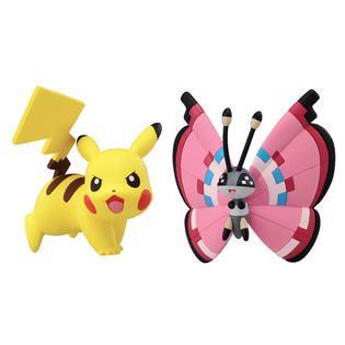 Tomy Pokémon 2 Pack Small Figures Pikachu vs Vivillion   Toys & Games
