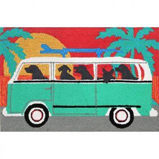 """Liora Manne Frontporch Beach Trip   Turquoise   27"""" x 72""""   7660442"""