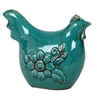 Ceramic Antique Blue Rooster   Shopping