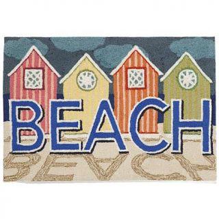 """Liora Manne 30"""" x 48"""" Frontporch Beachfront Doormat   Pastel   7803788"""