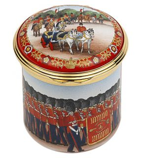 HALCYON DAYS   Trooping the Colour enamel tin