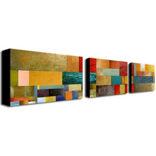 Trademark Global The March by Nicole Dietz 3 Piece Painting Print on