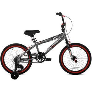 """18"""" Kent Abyss FS18 Boys' BMX Bike, Silver"""