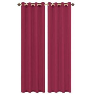 Window Elements Primavera Crushed Microfiber Fuchsia Grommet Extra Wide Curtain Panel, 60 in. W x 84 in. L YMC000964