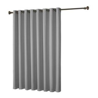 Bella Luna Maya Woven Blackout Light Gray Grommet Extra Wide Patio Door Curtain Panel   108 in. W x 84 in. L YMC004964