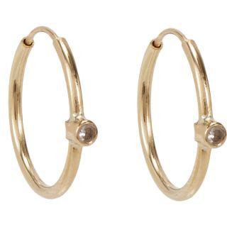 Jennifer Meyer White Diamond Hoop Earrings