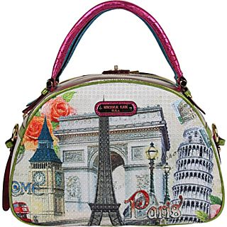 Nicole Lee Europe Print Bowler Bag