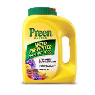 Preen 5.625 lb. Weed Preventer Plant Food Bottle Case 2163902X