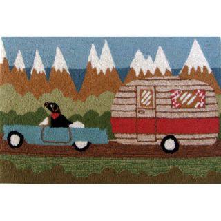 Liora Manne Frontporch Green Camping Dog Rug