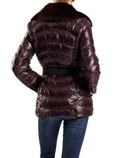 Dawn Levy Detachable faux fur collar jacket Purple