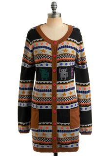 Sister Roboto Cardigan  Mod Retro Vintage Sweaters