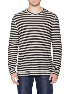 Slim Crewneck Striped T Shirt by Naked & Famous