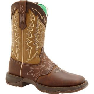 Durango Women's Lady Rebel 10 in. Pull On Let Love Fly Boot, Nicotine/Brown