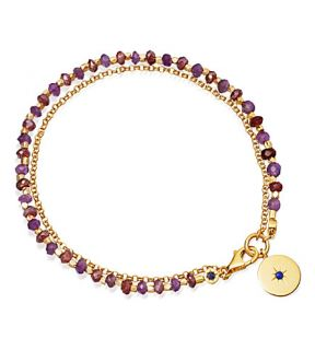 ASTLEY CLARKE   Amethyst and 18ct yellow gold plated biography bracelet